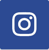 Image of blue rectangle with smaller outline of white square inside it then smaller outline of white circle inside the square and a white dot on the top right of the circle. This is the logo for Instagram.