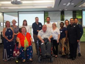 Caboolture Changing Lives, Changing Communities forum participants with Minister Coralee O'Rourke, State MP Mark Ryan, and Director General Clare O'Connor