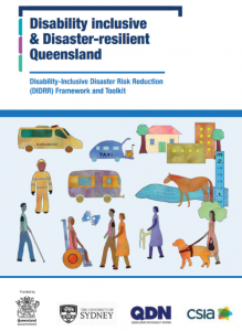 Disability Inclusive Disaster Risk Reduction Queensland Framework and Toolkit cover page