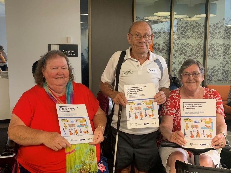 QDN members at the Disability Inclusive Disaster Risk Reduction Queensland Framework and Toolkit Launch